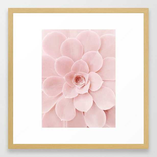 Blush Succulent Framed Art Print - Society6