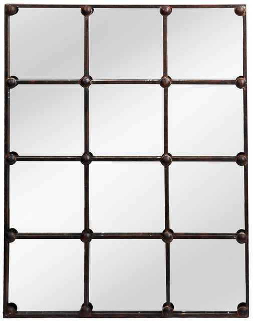 Rutan Cast Iron Rectangle Accent Mirror - Wayfair