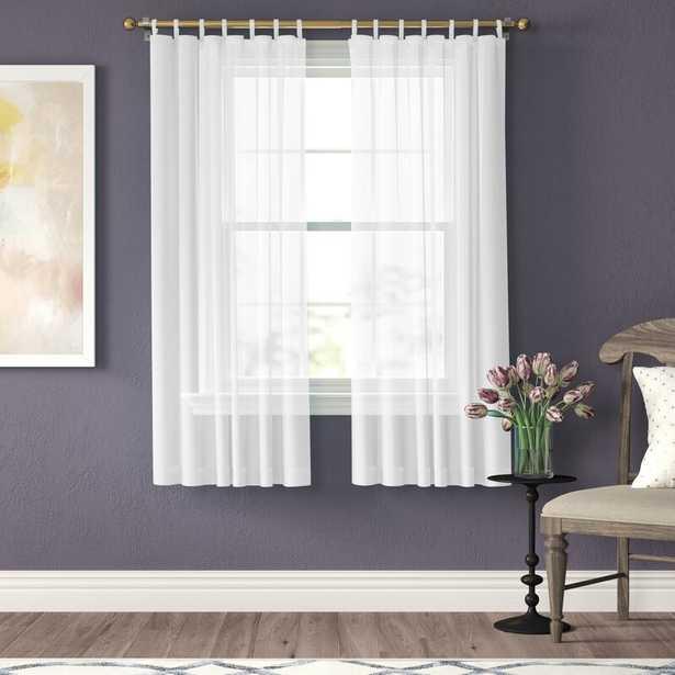 Wayfair Basics Solid Sheer Tab Top Curtains - Wayfair