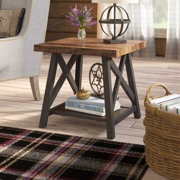 Isakson Trestle End Table with Storage - Wayfair