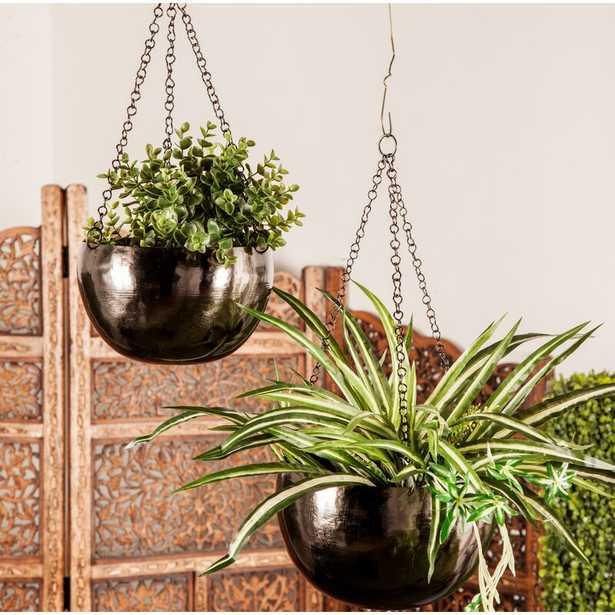 Engelman 2-Piece Iron Hanging Planter Set - Wayfair