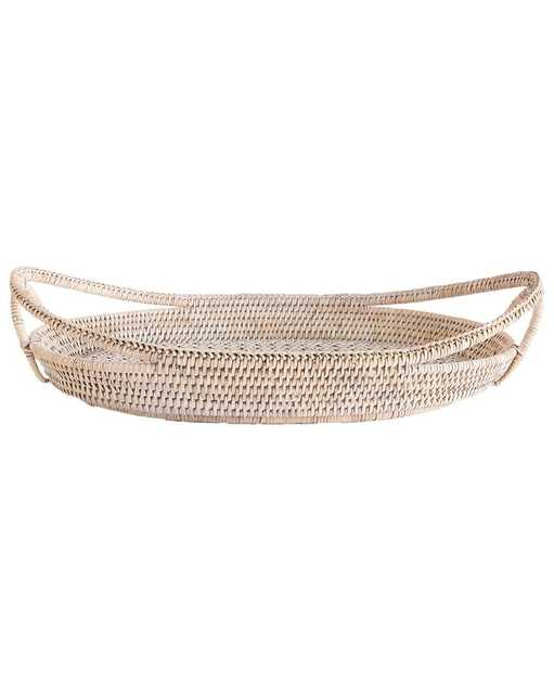 LACE WOVEN RATTAN TRAY - McGee & Co.