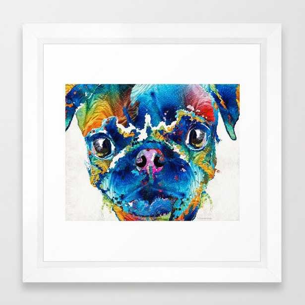 Colorful Pug Art - Smug Pug - By Sharon Cummings Framed Art Print - Society6