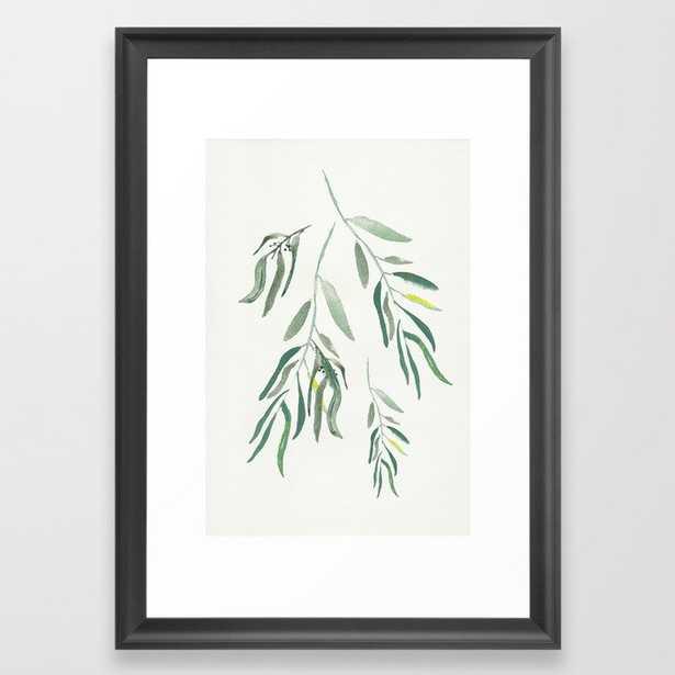 """Eucalyptus Branches II Framed Art Print, 15"""" x 21"""" Scoop Black Frame - Society6"""