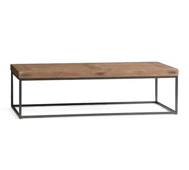 "Malcolm Coffee Table, Glazed Pine, 60""L - Pottery Barn"