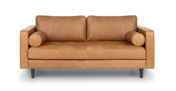 Sven Leather Loveseat - Article
