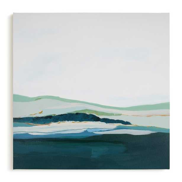 Pacific Seascape, 30x30, mint green_ canvas - Minted