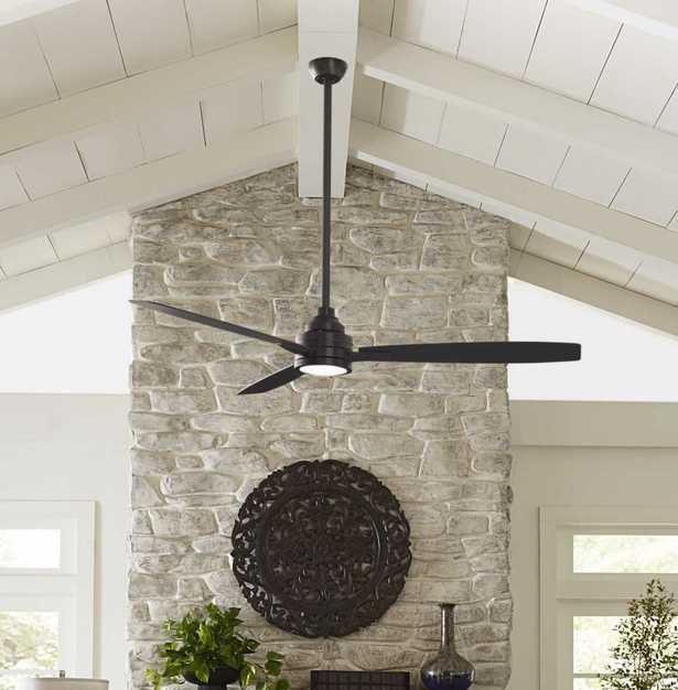 """60"""" Brumfield 3 - Blade Standard Ceiling Fan with Remote Control and Light Kit Included - Wayfair"""