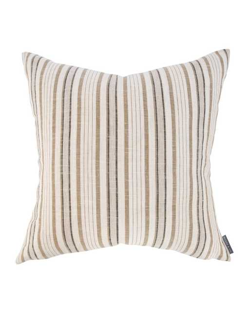 """ARCHIE PILLOW WITHOUT INSERT, CAMEL, 22"""" x 22"""" - McGee & Co."""