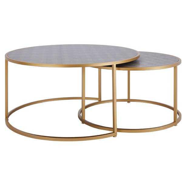 Delphine 2 Piece Coffee Table Set - Wayfair