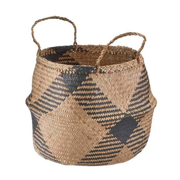 Large Diamonds Seagrass Belly Basket - containerstore.com