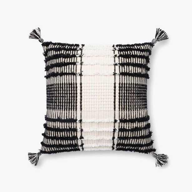 P4121 ED Black / White - Poly Filled - Loma Threads