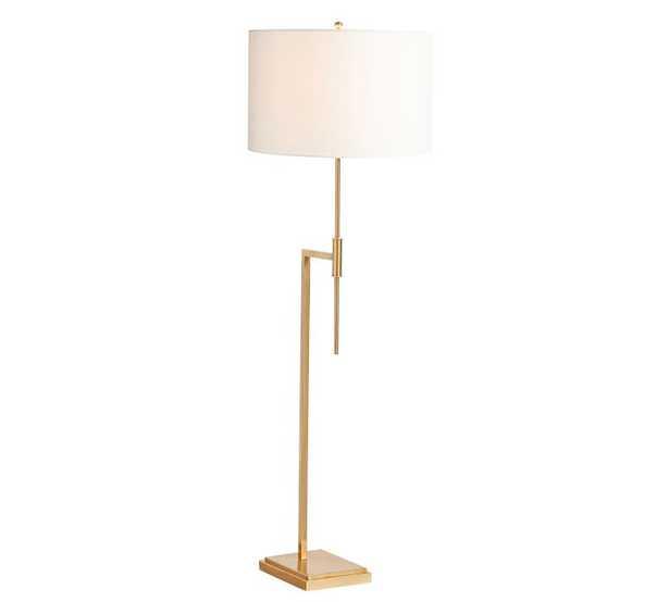 Atticus Classic Floor Lamp, Antique Brass - Pottery Barn