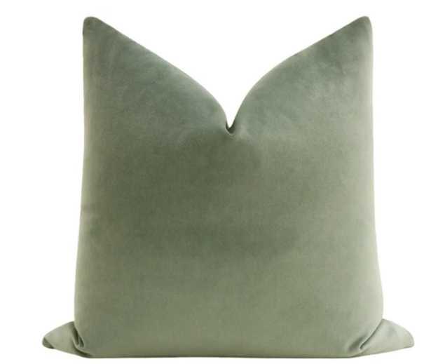 """Society Velvet // Eucalyptus 18"""" x 18"""" - Little Design Company"""