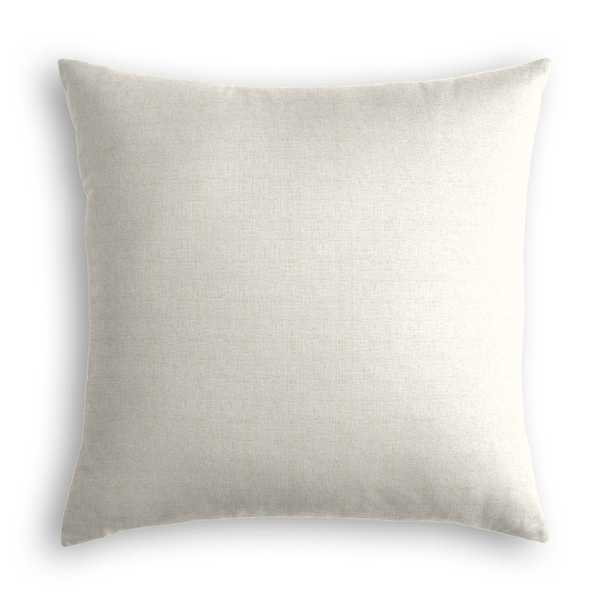 "Classic Linen Pillow, Soft Gray, 22"" x 22"" - Havenly Essentials"
