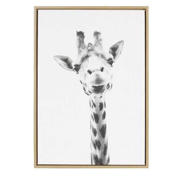 'Sylvie Graywash Giraffe' by Simon Te Tai - Photograph Print on Canvas - Wayfair