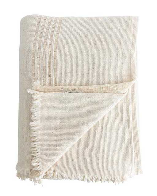 Natural Striped Blanket - McGee & Co.