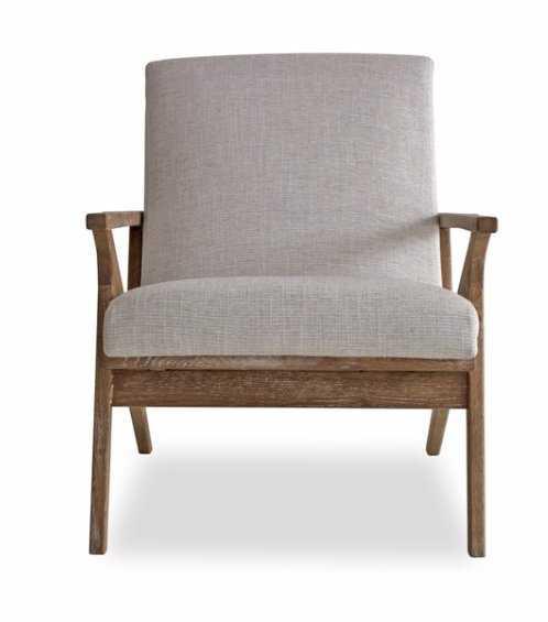 Joe Lounge Chair _ White Linen - AllModern