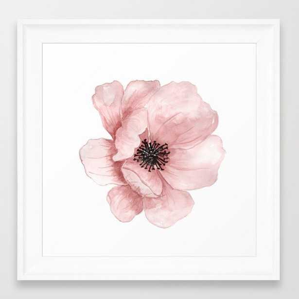 Flower 21 Art Framed Art Print - Society6