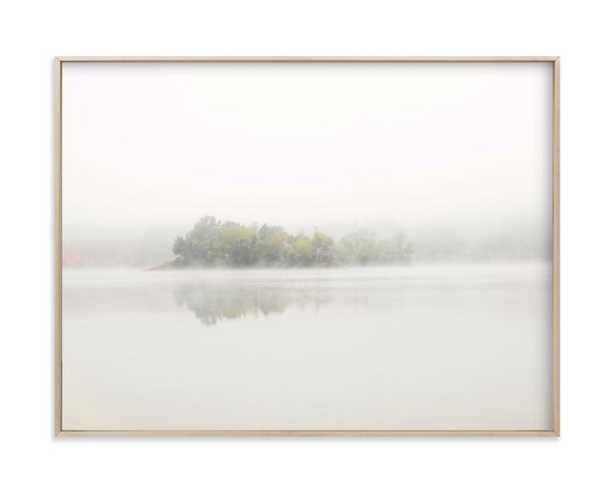 """The Island  - 24"""" x 18"""" - Matte Brass - Chic metal frame - Minted"""