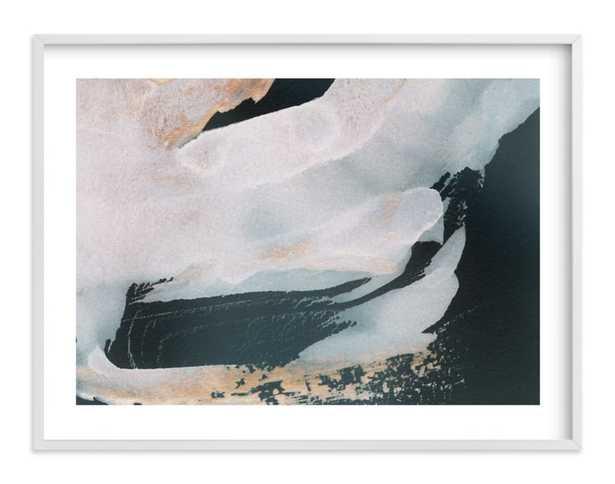 "Nonchalant / White Wood Frame / 40"" x 30"" - Minted"