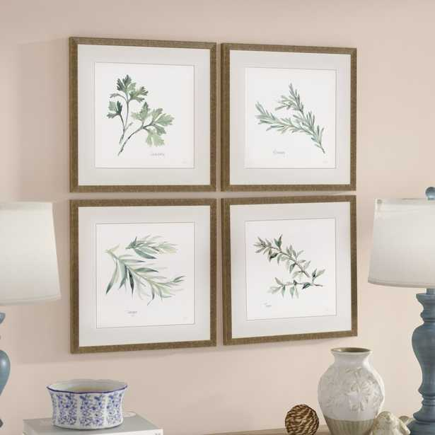 Herbs by Paschke - 4 Piece Picture Frame Graphic Art Print Set on Paper - Wayfair