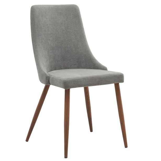 Aldina Upholstered Dining Chair, gray, set of 2 - Wayfair