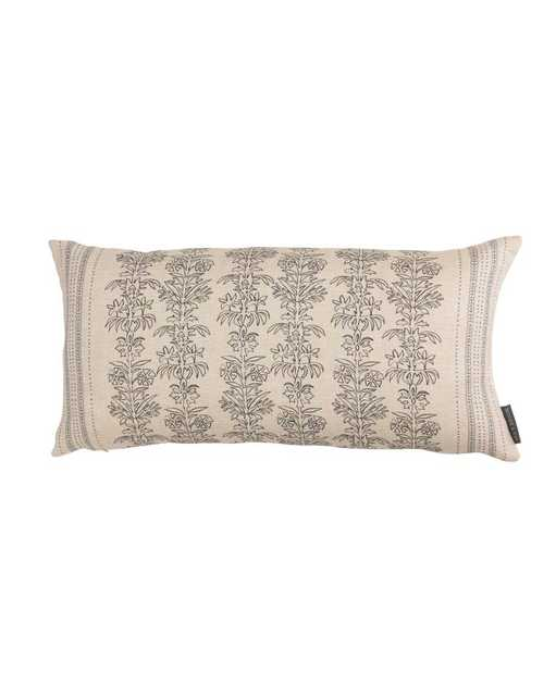 """Demi Floral Stripe Pillow Cover, 12"""" x 24"""" - McGee & Co."""