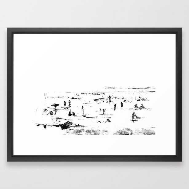 Beach Afternoon Framed Art Print - Society6