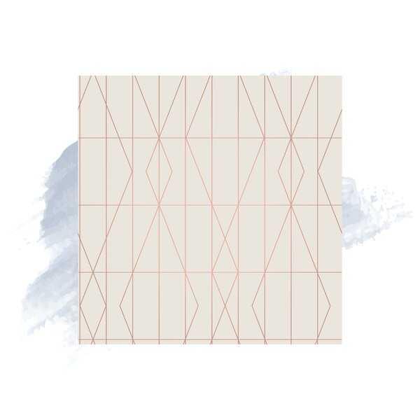"""Kristin Diamond Geo 33' L x 20.5"""" W Wallpaper Roll - Wayfair"""
