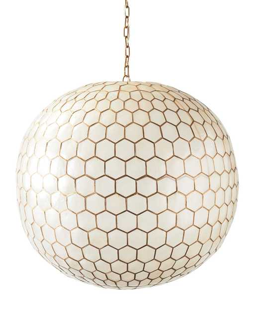 Capiz Honeycomb Chandelier - Large - Serena and Lily