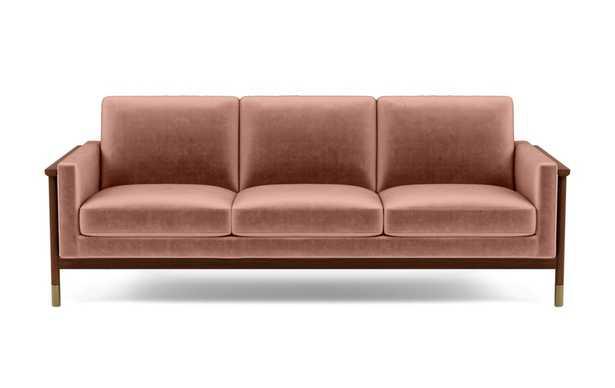 """Jason Wu Wood Frame Custon Sofa - Blush (Mod Velvet) -93"""" - Interior Define"""