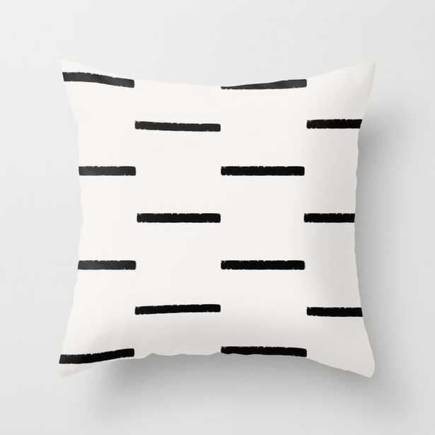 Simple black stripes Throw Pillow - Society6