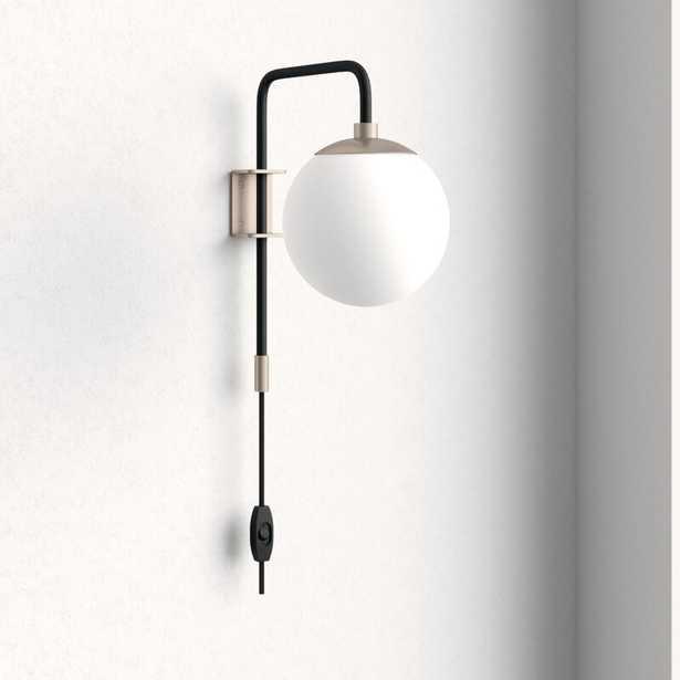 Birchanger 1-Light Plug-In Armed Sconce- brushed nickel - Wayfair
