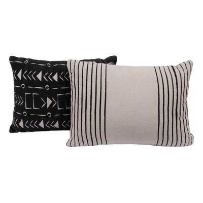 Maree Piece African Mudcloth Cotton Lumbar Pillows - AllModern