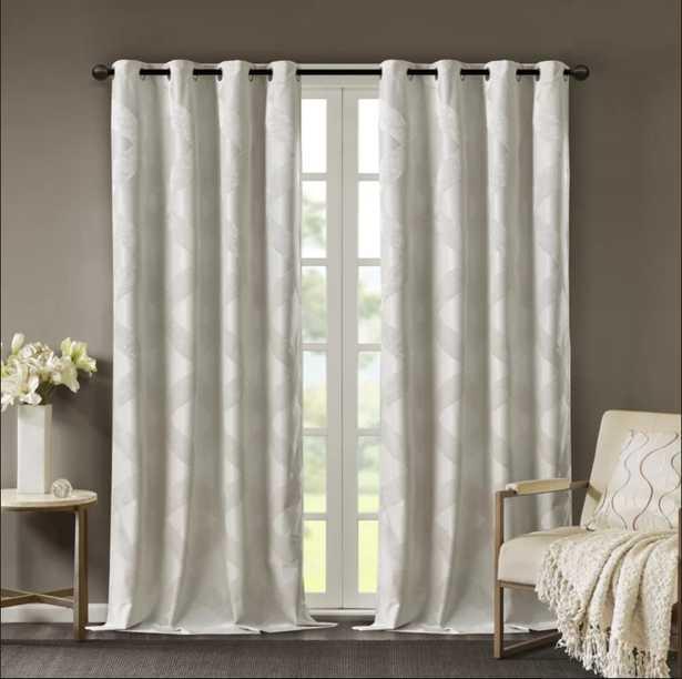 Hambrick Ogee Knitted Jacquard Geometric Blackout Thermal Grommet Single Curtain Panel - Wayfair
