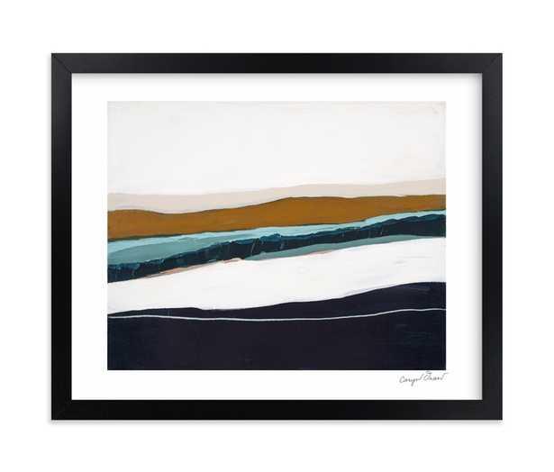 "moonlight seascape - 10"" x 8"", white border, black frame, signature - Minted"