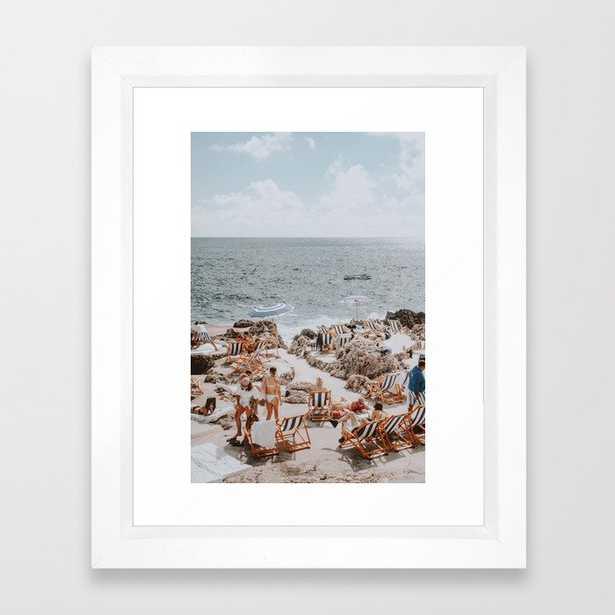 capri, italy Framed Art Print - Society6