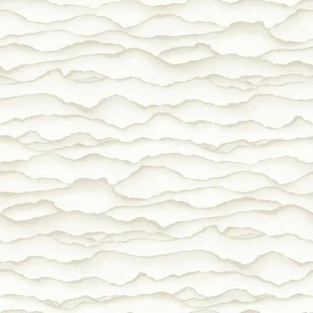"""Rumley Singed 16.5' L x 20.5"""" W Scroll Peel and Stick Wallpaper Roll - Non-textured - Wayfair"""