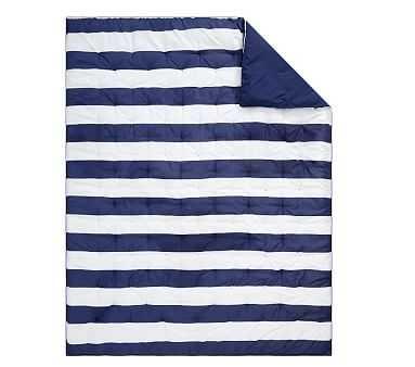 Rugby Stripe Comforter, Full/queen, Navy - Pottery Barn Kids