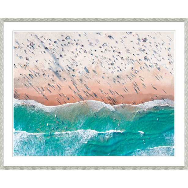 'DAY AT THE BEACH' FRAMED GRAPHIC ART PRINT - Perigold