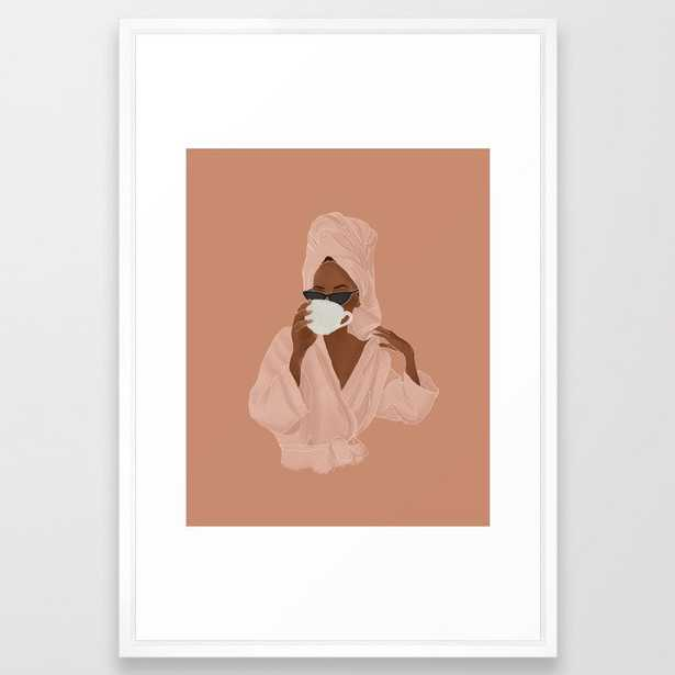 Treat Yourself Framed Art Print - Society6