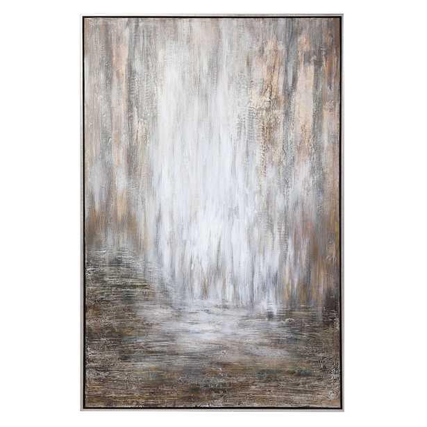 Desert Rain Hand Painted Abstract Art - Hudsonhill Foundry