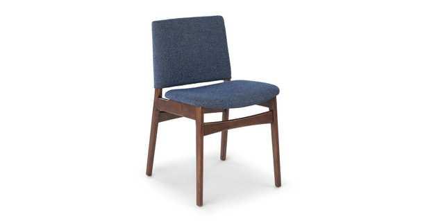 Nosh Denim Blue Walnut Dining Chair - Article