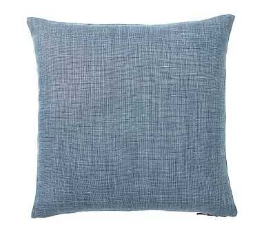 """Libeco Linen Pillow Cover, 24"""", Midnight - Pottery Barn"""