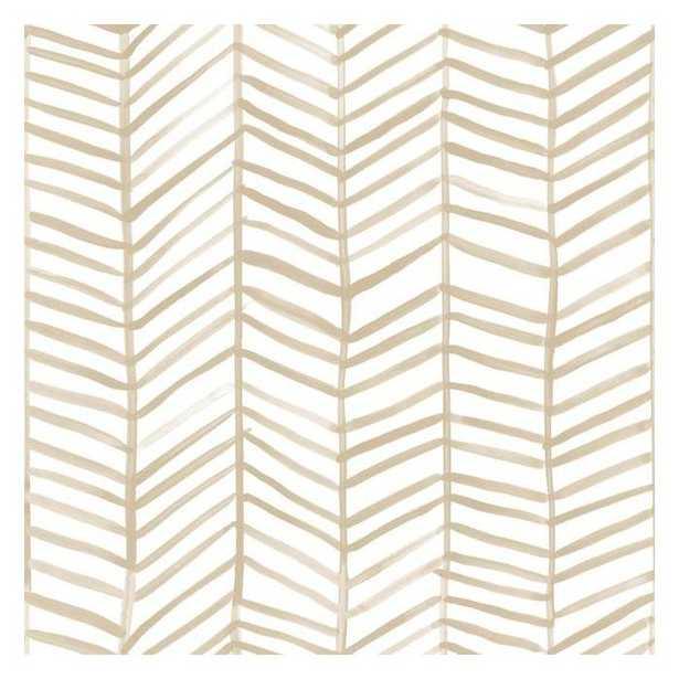 Cat Coquillette Herringbone Peel & Stick Wallpaper - SAMPLE - York Wallcoverings