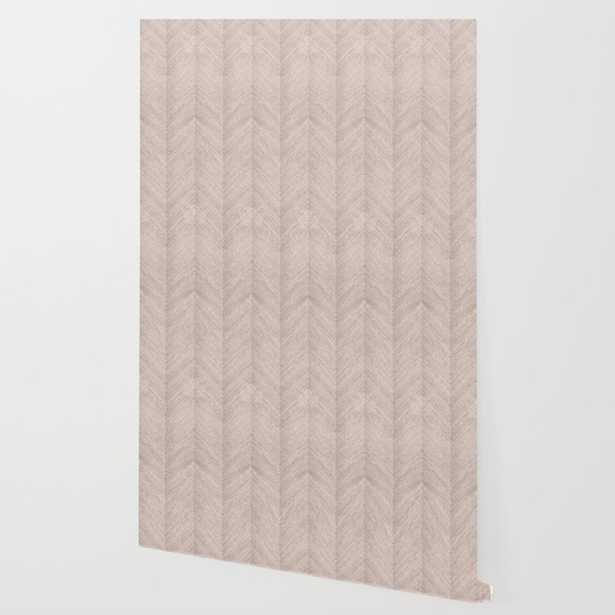 Early Dawn Chevron Sisal Grasscloth Wallpaper - Society6