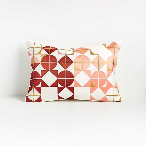 """Rian Pillow 12""""x18"""" with Down-Alternative Insert - Crate and Barrel"""