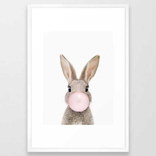 Bubble Gum Rabbit Framed Art Print - Society6