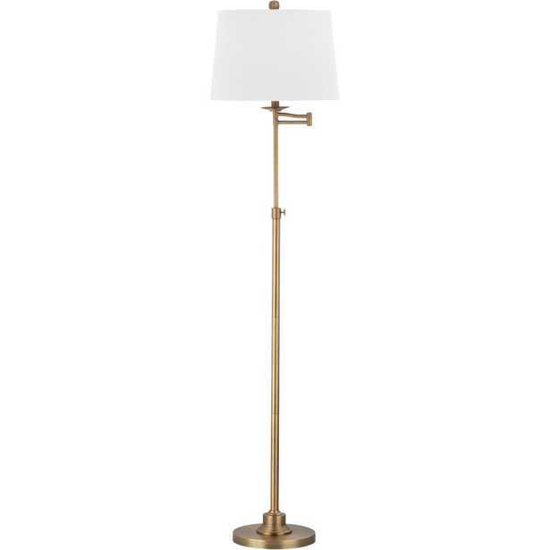 Nadia Floor Lamp - Safavieh, Gold/White - Wayfair